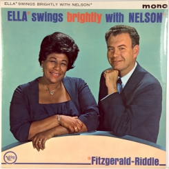 53. FITZGERALD, ELLA & NELSON RIDDLE-ELLA SWINGS BRIGHTLY WITH NELSON-1962-первый пресс uk- verve-nmint/nmint
