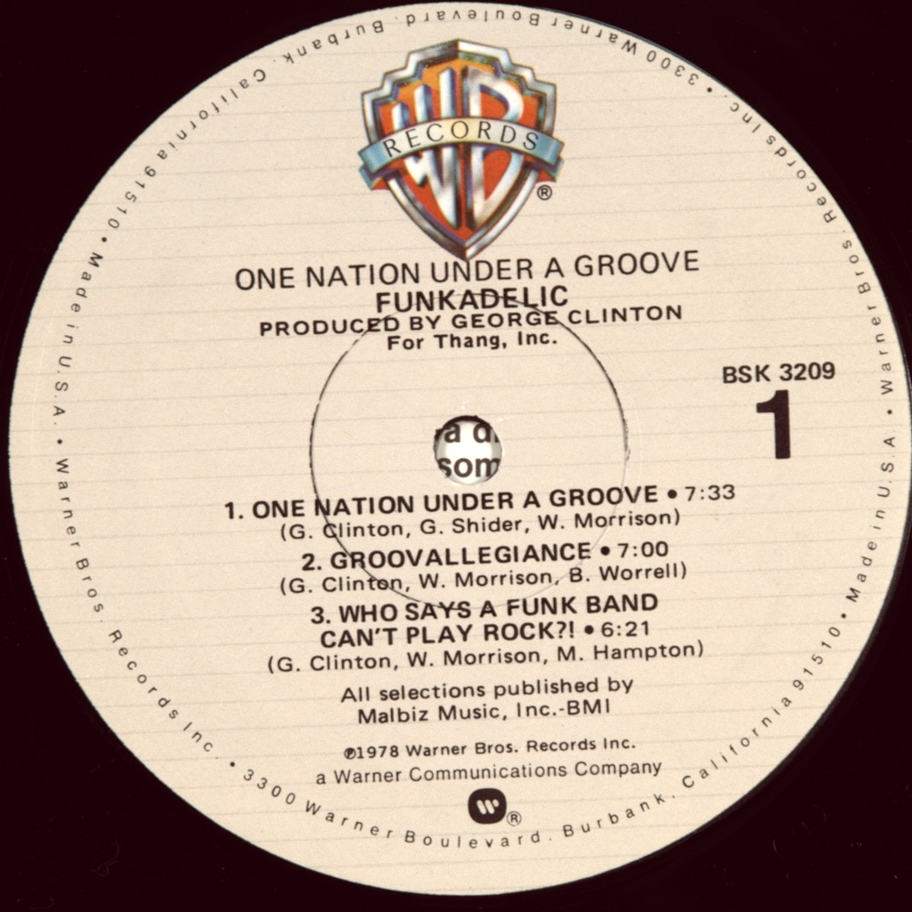 Funkadelic One Nation Under A Groove 1978 First Press Usa