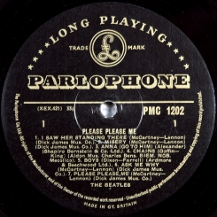30. BEATLES-PLEASE PLEASE ME-1963-FIRST PRESS(МОNО) UK-GOLD PARLOPHONE-NMINT/NMINT