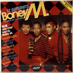 139. BONEY M-THE BEST OF 10 YEARS-32 SUPERHITS-1986-FIRST PRESS UK-STYLUS-NMINT/NMINT