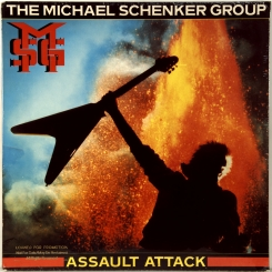 70. MICHAEL SCHENKER GROUP ‎– ASSAULT ATTACK-1982-ПЕРВЫЙ ПРЕСС (ПРОМО) USA-CHRYSALIS-NMINT/NMINT