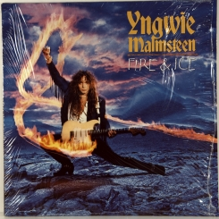98. MALMSTEEN, YNGWIE-FIRE & ICE-1992-ПЕРВЫЙ ПРЕСС UK/EU-GERMANY-ELEKTRA-NMINT/NMINT