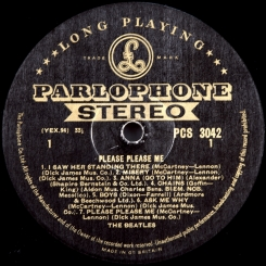 31. BEATLES-PLEASE PLEASE ME(STEREO)-1963-FIRST PRESS UK-GOLD PARLOPHONE-VG+/EX