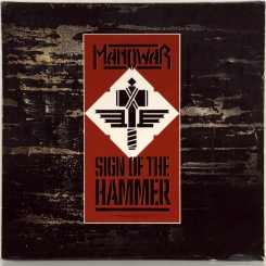 104. MANOWAR-SIGN OF THE HAMMER-1984-ПЕРВЫЙ ПРЕСС -GERMANY-10 RECORDS-NMINT/NMINT