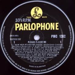 33. BEATLES-PLEASE PLEASE ME(MONO)-1963-ПЕРВЫЙ ПРЕСС(DECCA PRESS) UK-PARLOPHONE-NMINT/NMINT