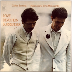 30. CARLOS SANTANA / MAHAVISHNU JOHN MCLAUGHLIN-LOVE DEVOTION SURRENDER-1973-ПЕРВЫЙ ПРЕСС UK-CBS-NMINT/NMINT