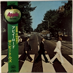 1. BEATLES-ABBEY ROAD-1969-ПЕРВЫЙ ПРЕСС JAPAN-APPLE-RED VINYL+OBI-NMINT/NMINT