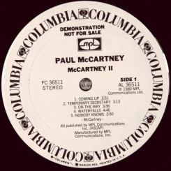 44. MCCARTNEY, PAUL-II+45s COMING UP (LIVE AT GLASGOW)-1980-ПЕРВЫЙ ПРЕСС(PROMO) USA-COLUMBIA-NMINT/NMINT