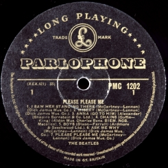 29. BEATLES-PLEASE PLEASE ME(MONO)-1963-ПЕРВЫЙ ПРЕСС UK-GOLD PARLOPHONE-EX+/NMINT