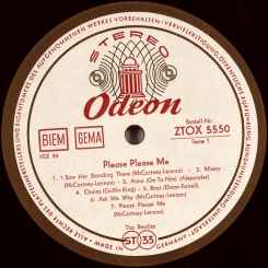 3. BEATLES-PLEASE PLEASE ME-1963-FIRST PRESS GERMANY (STEREO)-ODEON-NMINT/NMINT
